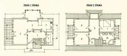 план дома в стиле Альпийской Романтики