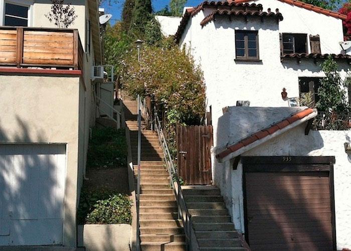 Лестница на холме в Лос-Анджелесе