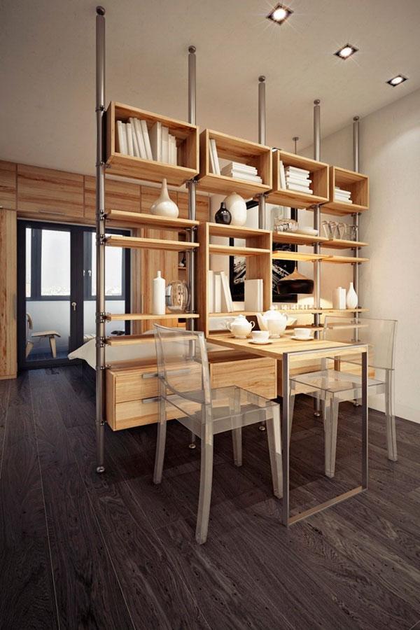 Креативный дизайн для маленькой однокомнатной квартиры