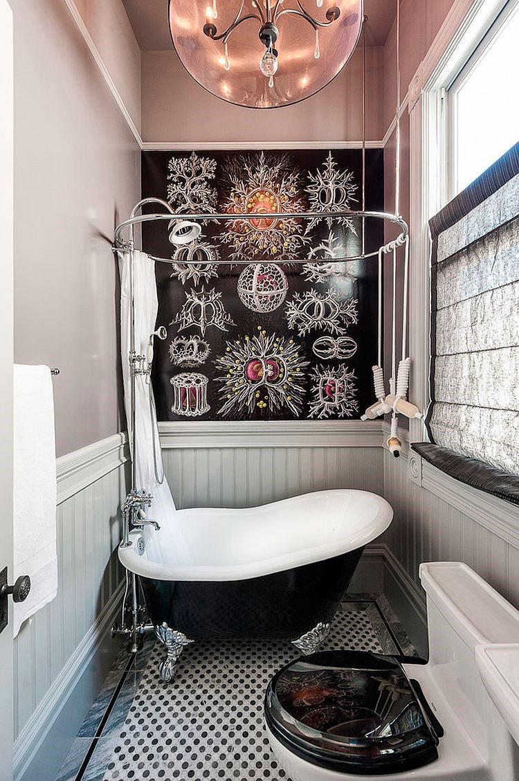 Крошечная комната, с маленькой викторианской ванной [дизайн: Aaron Gordon Construction]
