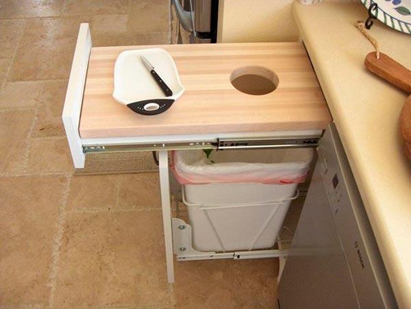 идея для организации рабочего пространства на кухне