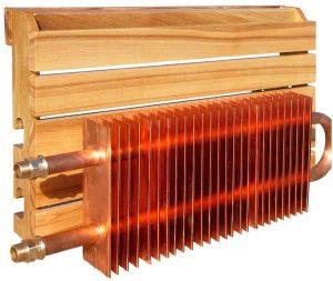 медные радиаторы отопления, один из вариантов