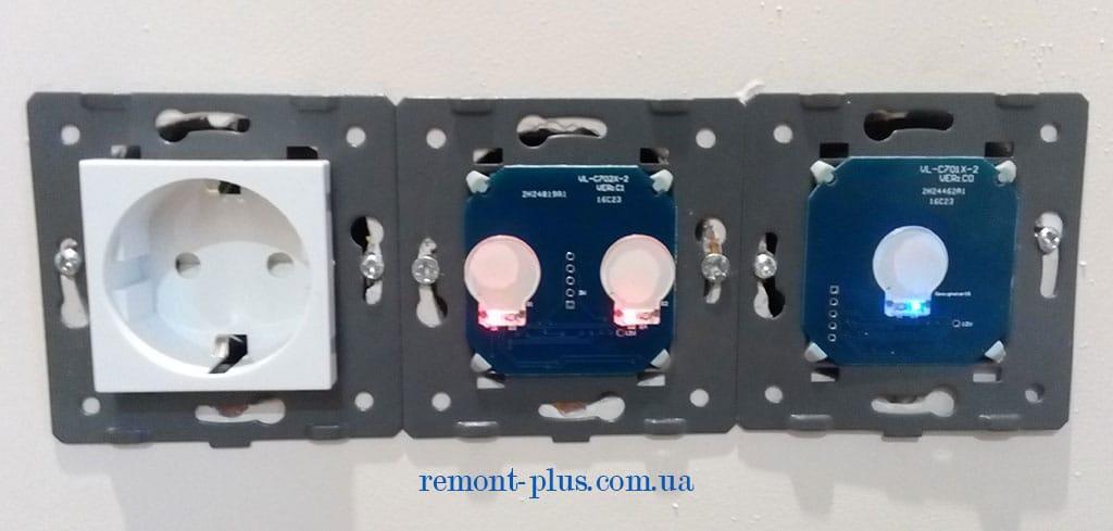 сенсорные выключатели и розетки LIVOLO (без декоративной накладки)