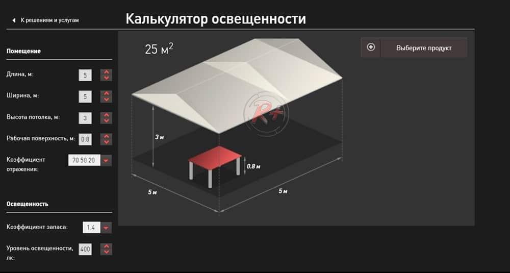 """Скриншот изображение с сайта """"Световые технологии"""""""