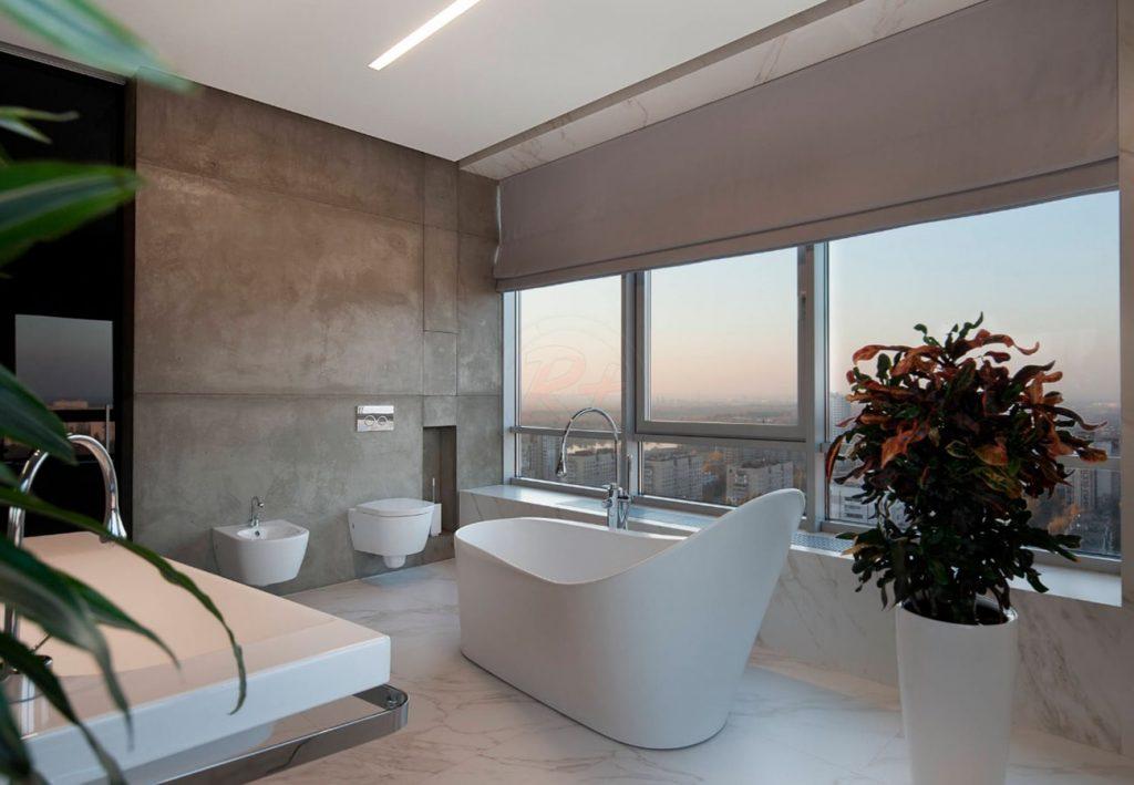 Фото №1 ванной комнаты. Автор проекта: Валерия Завгороднева, дизайн-студия Futurum-Fractal
