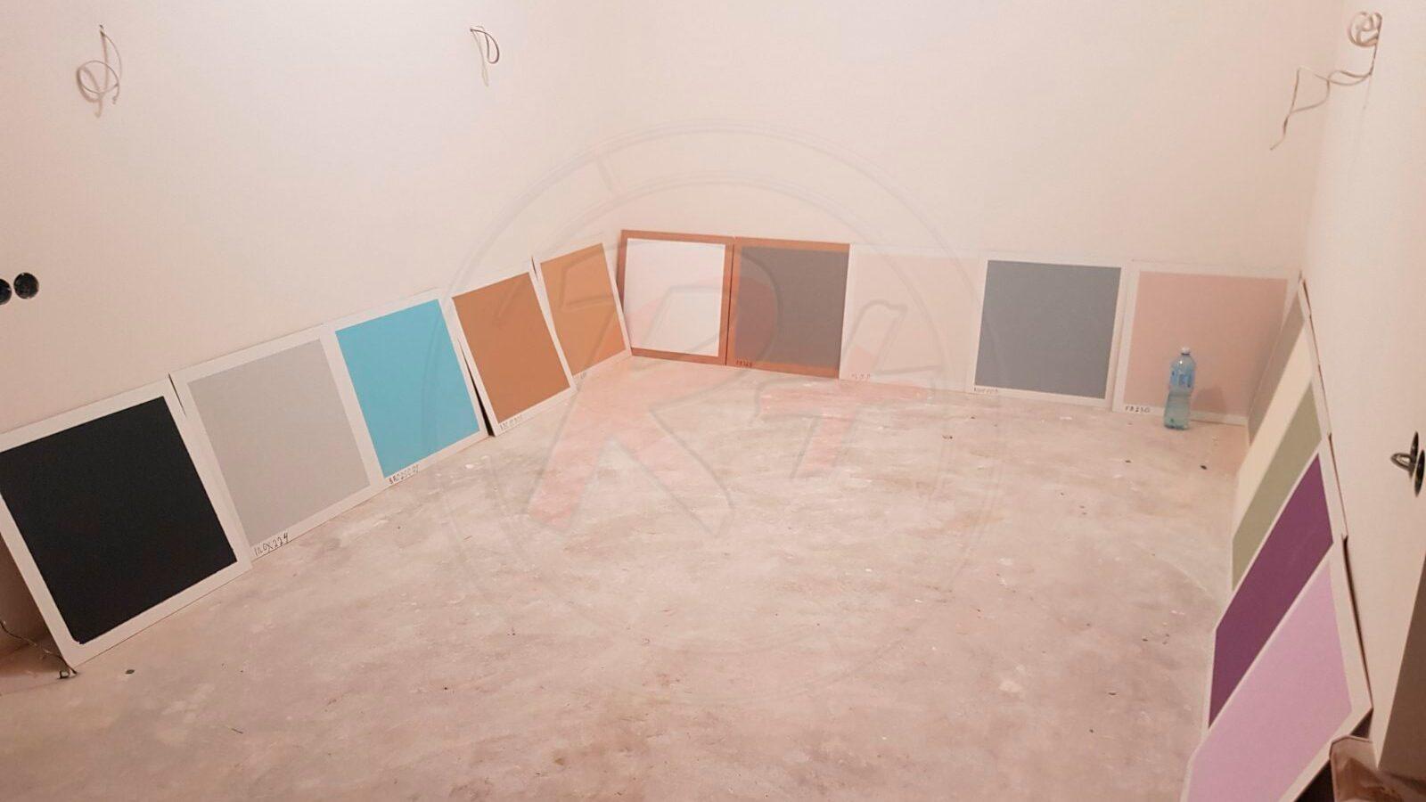 выкраска краски для стен