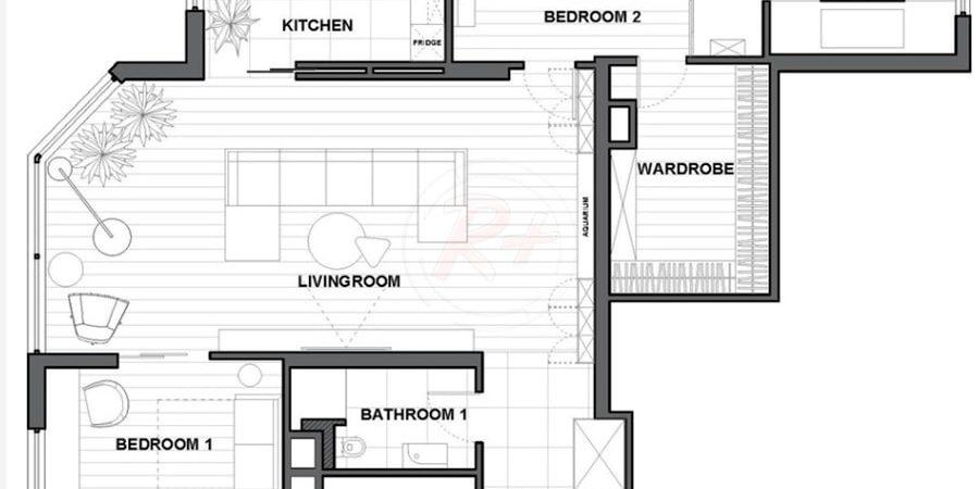 План квартиры, Автор проекта: Валерия Завгороднева, дизайн-студия Futurum-Fractal